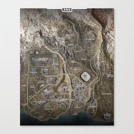 COD Warzone Map Season 4 Canvas Print