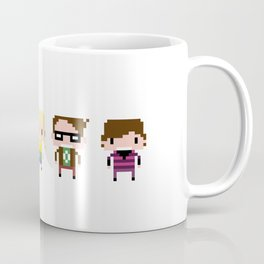 The Big Bang Theory Pixel Characters Coffee Mug