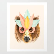 The Bear with the Paper Mask Art Print