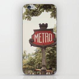 A Metro In Paris iPhone Skin