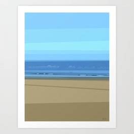 Seascape I - Kijkduin Art Print