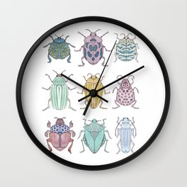 Beetle Grid Wall Clock