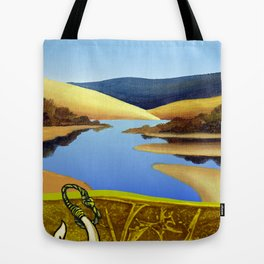Water Meets Sand: Te Paki Stream Tote Bag