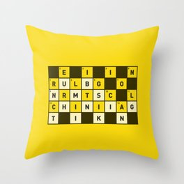 Religion numbs critical thinking  Throw Pillow