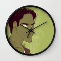 michael scott Wall Clocks featuring Scott by The Art of Nicole