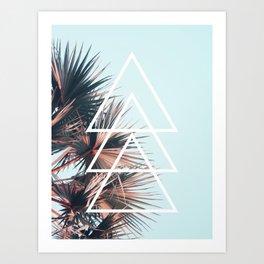 Triangle Tropical Left Art Print