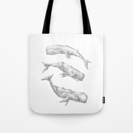 Three Little Whales Tote Bag