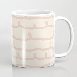 Vine Stripes Vintage Pink on Rose Petal Cream Coffee Mug