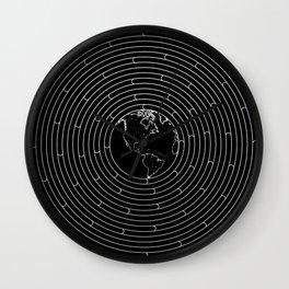 I Dream To Explore The World (Black) Wall Clock