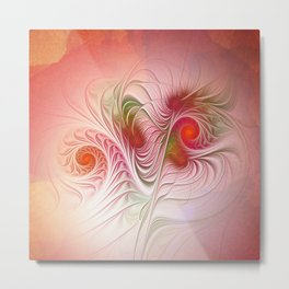 tender fractal growth Metal Print