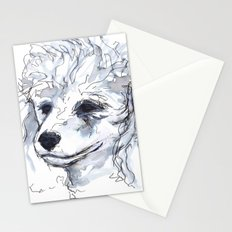Poodle (portrait for my mom), watercolor Stationery Cards