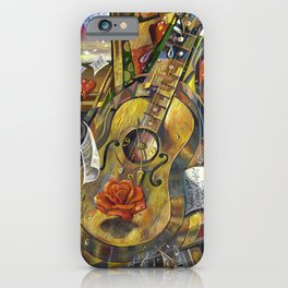 While My Guitar Gently Weeps iPhone Case