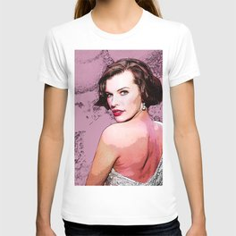 Milla Jovovich illustration T-shirt