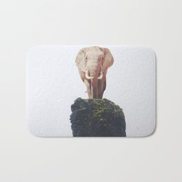 No Way Down, Elephant at Iceland Black Sand Beach-Animals and Nature Bath Mat