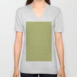 Horizontal White Stripes on Light Green Unisex V-Neck