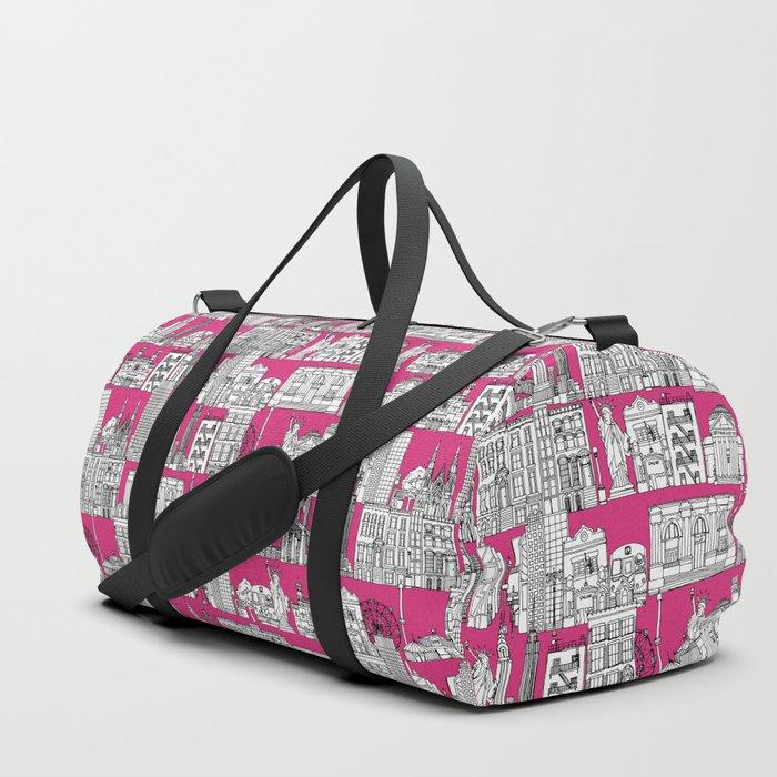 New York pink Duffle Bag