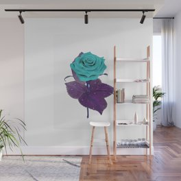 Single Standing Rose (Blue) Wall Mural