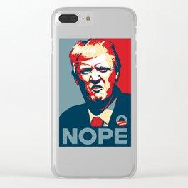 Trump Pop Art Clear iPhone Case