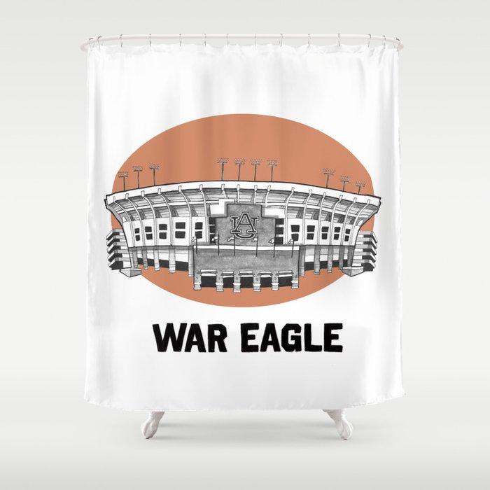 Auburn Print Shower Curtain
