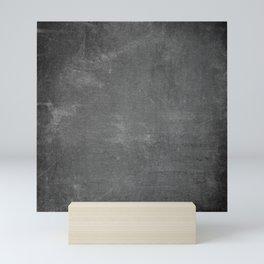 Gray and White School Chalk Board Mini Art Print
