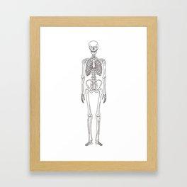 Human body skeleton Framed Art Print