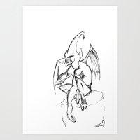demon Art Prints featuring demon by Joshua Racine