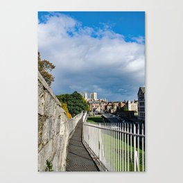 York City Roman wall and Minster Canvas Print