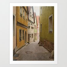 Italian Alley - Bright Colors Art Print