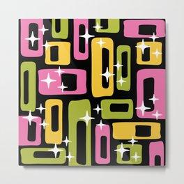 Retro Mid Century Modern Abstract Pattern 616 Metal Print
