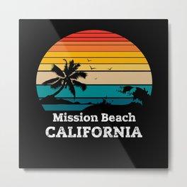 Mission Beach CALIFORNIA Metal Print