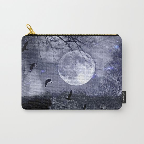 full moon in the woods Carry-All Pouch