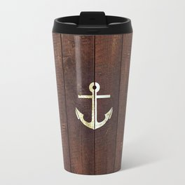 Anchor Wood Travel Mug
