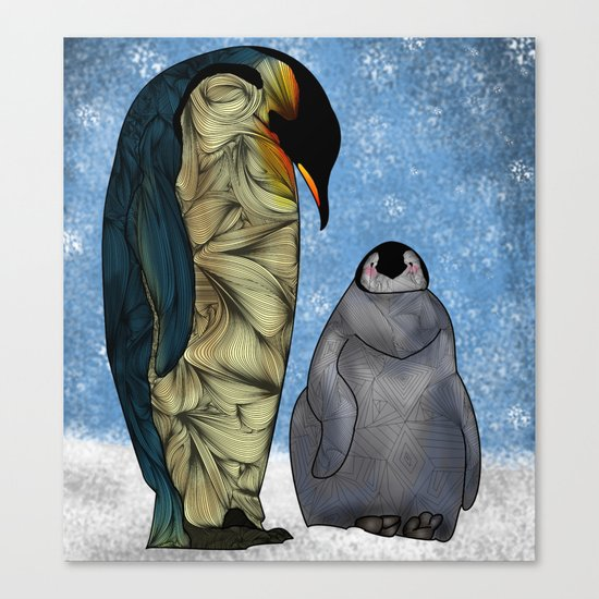 Emperor Penguins Canvas Print