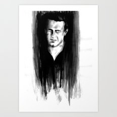 DARK COMEDIANS: Jason Segel Art Print