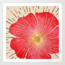 Red Wildflower Art Print