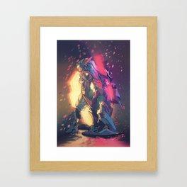 neon blossoms Framed Art Print