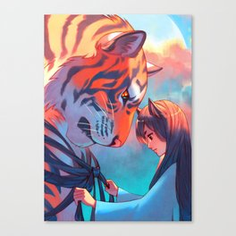 Tangled Tiger Canvas Print