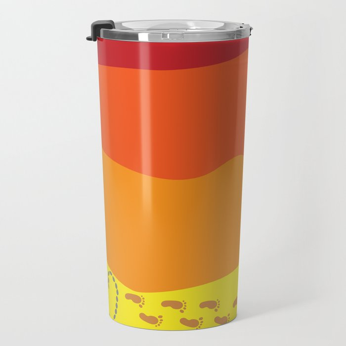A Message in the Sand at Sunset  Travel Mug