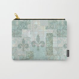 teal baroque vintage patchtwork Carry-All Pouch