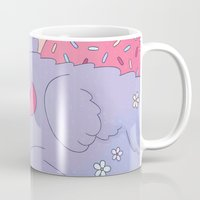 donut Mugs featuring Donut by Nandi Appleby