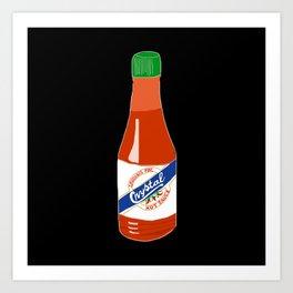 Crystal Hot Sauce Art Print