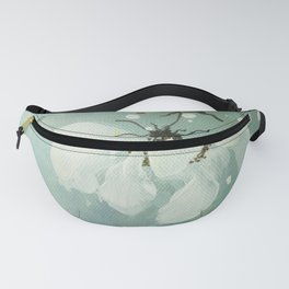 White flower 3 Fanny Pack