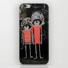 street art couple iPhone & iPod Skin