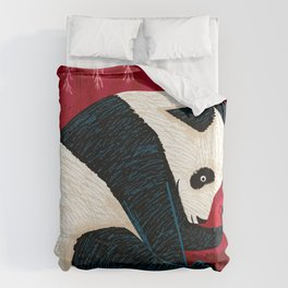 The Panda and the Butterfly Duvet Cover