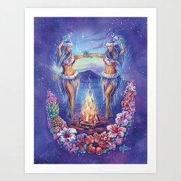 Hula Dreams Art Print
