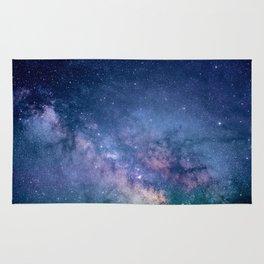 Purple Glitter Galaxy Rug