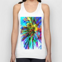 palm tree Tank Tops featuring Palm Tree  by Nikki Hung
