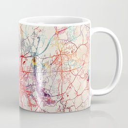 Worcester map Massachusetts painting Coffee Mug