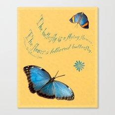Butterflies like Flowers Canvas Print