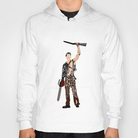 evil dead Hoodies featuring The Evil Dead - Bruce Campbell by A Deniz Akerman